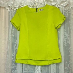 TEMT Lime green short sleeve top-Get 2 $15-items for $20
